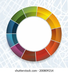 circle element with dynamic color gradient for decoration