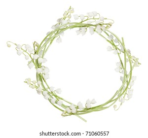 Circle frame from lilies of the valley