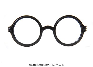 circle glasses isolated on the white background