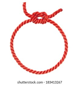 circle noose with red rope