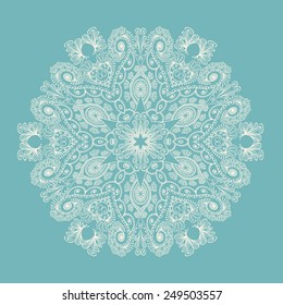 Circle ornament, ornamental round lace.