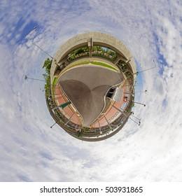 Circle Panorama of street sport park