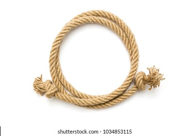 Circle rope frame on white background