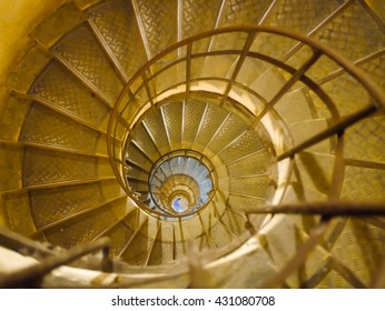 Circle Staircase in Triumph de france, Paris, France, Spiral Staircase