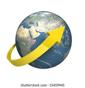 Circle the World  [isolated on white background]