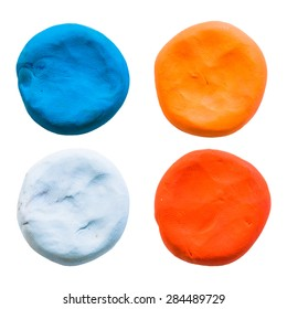 circle,modelling clay of different colors