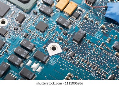 Circuit board with electric components