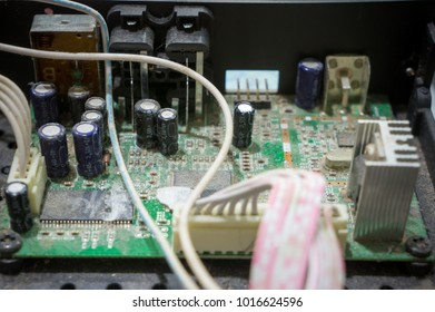circuit board old and birty