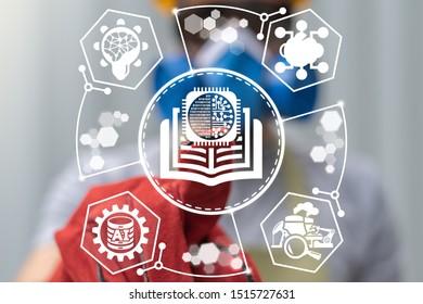 Circuit Book Industrial Machine Learning AI Digital Data Technology.