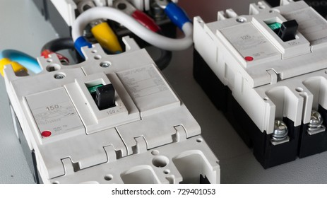 the circuit breakers installed on the main distribution board