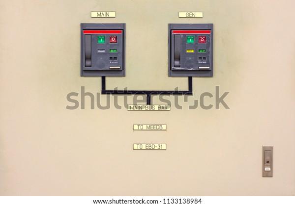 Circuit Breakers Panel Diagram Power Electrics Stock Photo ... on