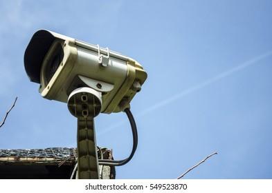 Circuit camera under sky