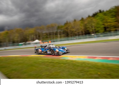 Circuit de Spa-Francorchamps, Belgium May 4 2019. Signatech Alpine Matmut LMP2 heads into Les Combes chicane . WEC Total 6 Hours of Spa-Francorchamps 2019