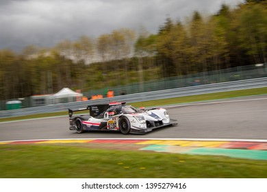 Circuit de Spa-Francorchamps, Belgium May 4 2019. Labre Competition LMP2 heads into Les Combes chicane. WEC Total 6 Hours of Spa-Francorchamps.