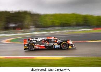 Circuit de Spa-Francorchamps, Belgium May 4 2019. TDS Racing LMP2 at Les Combes, WEC Total 6 Hours of Spa.