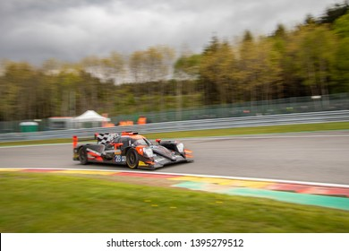 Circuit de Spa-Francorchamps, Belgium May 4 2019. TDS Racing LMP2 car heads into Les Combes, WEC Total 6 Hours of Spa-Francorchamps.