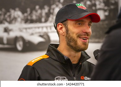 Circuit de Spa-Francorchamps, Belgium, May 3 2019. Jean-Eric Vergne interviewed by the press. Post qualifying press conference for the Total 6 Hours of Spa.