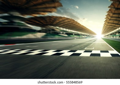 Circuit motion blur road