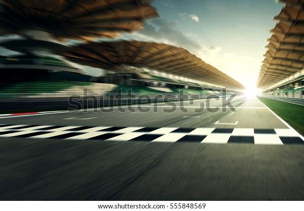 Circuit motion blur road