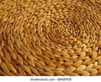 Circular background from rattan fibers