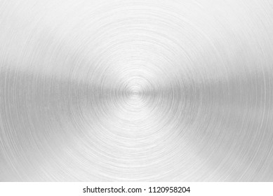 Circular brushed silver metal texture background photo hi resolution