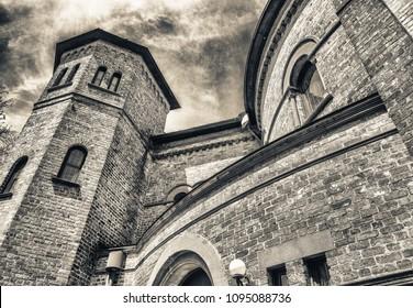 Circular Congregational Church exterior view, Charleston.
