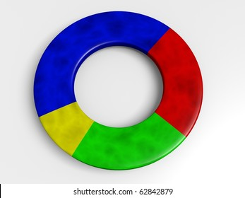circular diagram isolated on white