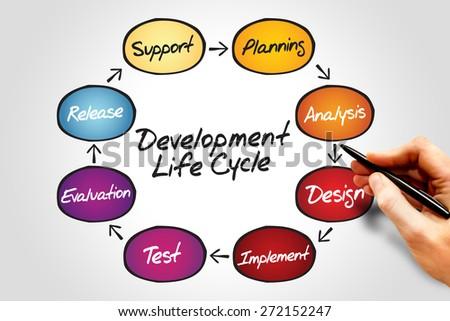Circular Flow Chart Life Cycle Development Stock Photo Edit Now