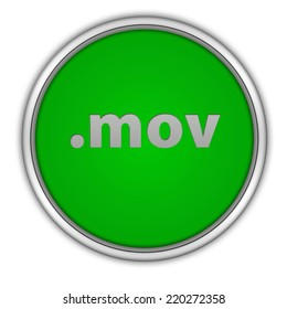 .mov circular icon on white background