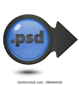 .psd circular icon on white background