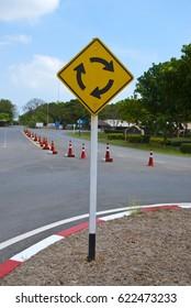 circular intersection warning