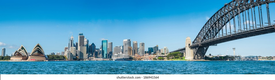 Circular Quay and Opera House, Harbor Bridge,Sydney, Australia