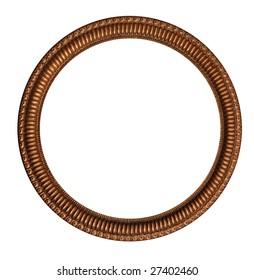 circular round decorative brass picture frame
