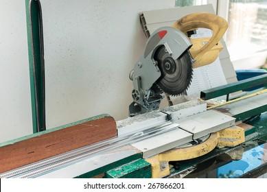 Circular Saw Blade Cutting PVC Window Profile