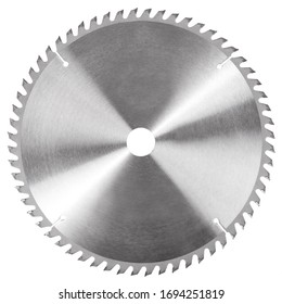 Circular saw blade for wood circular saw isolated on white background