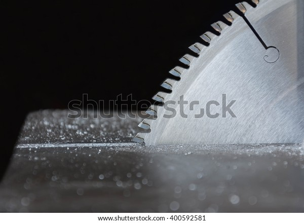Circular Saw isolated on black background