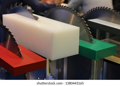 Circular Saw. Several saws for processing plastics. The saw is equipped with plates from a firm alloy and diamond. Saws for processing plastics, non-ferrous metals and building materials.