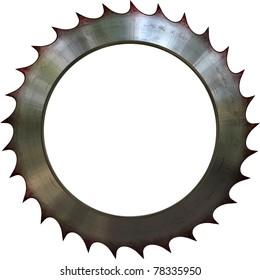 Circular saw in white background