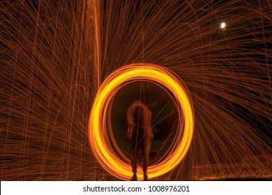 Circular Steel Wool light painting