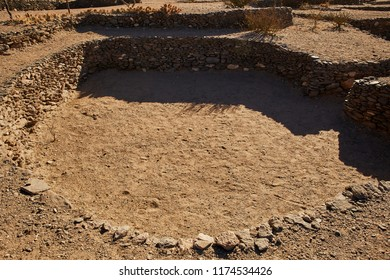 Circular Stone Construction of Quilmes Ruin in Tucumán Province Aimacha del Valle Desert Pre Columbian Culture Quechua American Ancient Historic Construction in Northen Argentina
