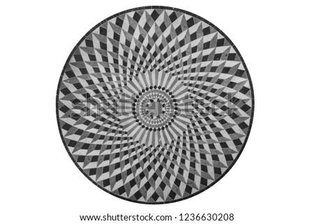 Circular stone mosaic rendering