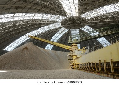Circular storage of limestone in cement manufacturing plant