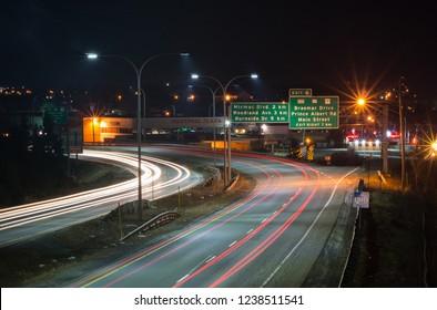The Circumferential Highway in Dartmouth, Nova Scotia, Canada on Apr. 21, 2014.
