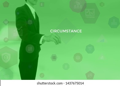 CIRCUMSTANCE - business concept presented by businessman