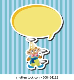circus clown, cartoon speech icon