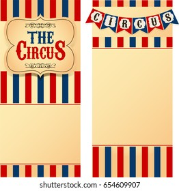 Circus labels with flags