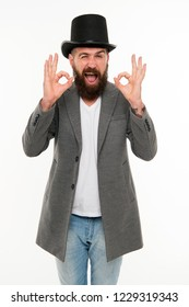 Circus magic trick performance. Magician circus worker. Man bearded guy cheerful face solve problem as magician. Magician character. Want some magic trick. Magician trick performance concept.