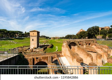 Circus Maximus, an ancient Roman chariot-racing stadium and largest entertainment venue in Rome, Italy