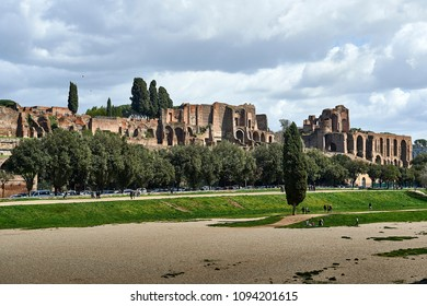 Circus Maximus and Palatine Hill in Rome
