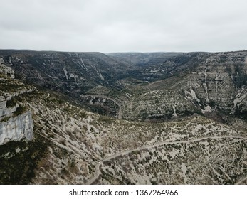 Circus of Navacelles in Herault,  famous meander dug by erosion, Occitanie in the southern of France